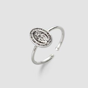 The Original Tiny  Medal Ring, Virgin Mary Ring